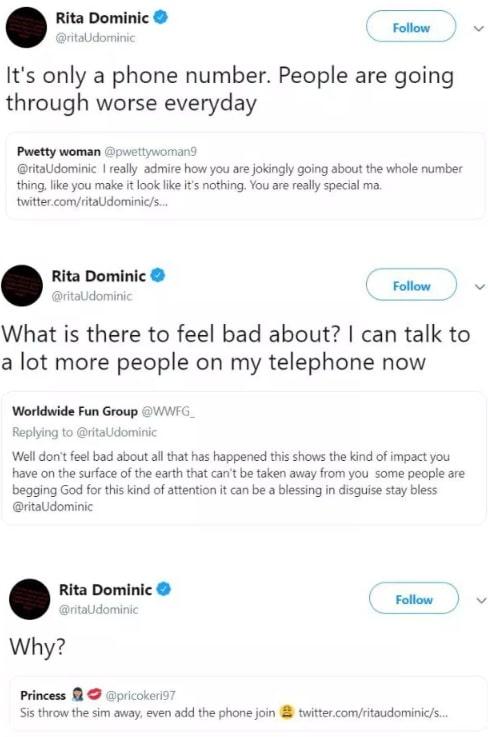 rita dominic twitter phone