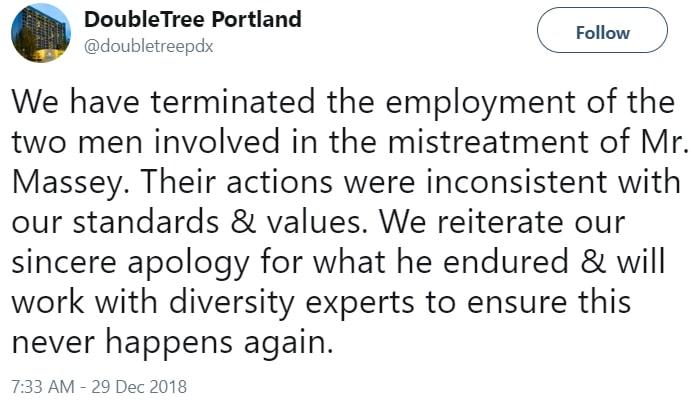 black man kicked out hotel portland oregon
