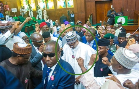 buhari booed lawmaker national assembly