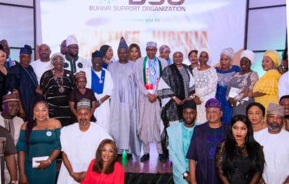 buhari meets nollywood stars