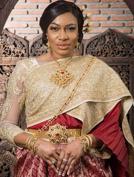 chika ike thailand wedding costume