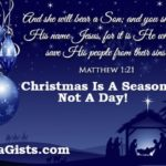 Christmas Is A Season To Celebrate The Birth Of Jesus Christ, Not A Day - A Response To Daddy Freeze Biblical Ignorance