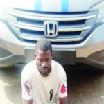 driver steals boss honda crv