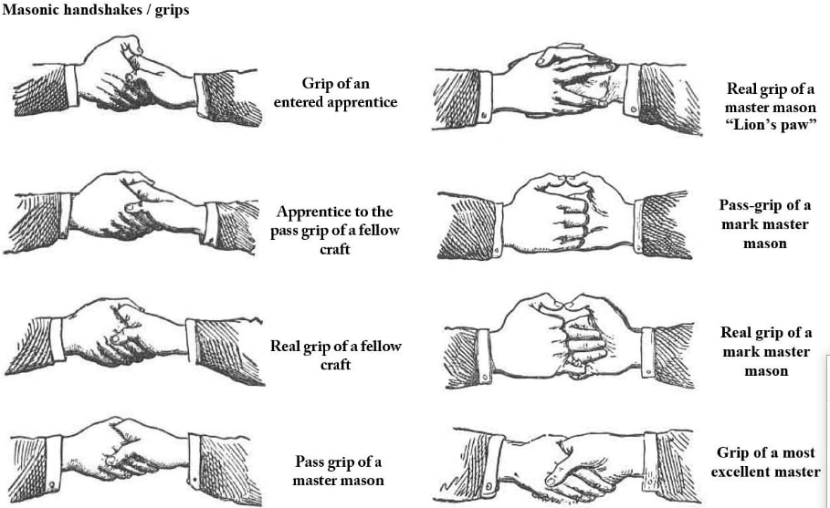 freemasons secret initiation handshakes