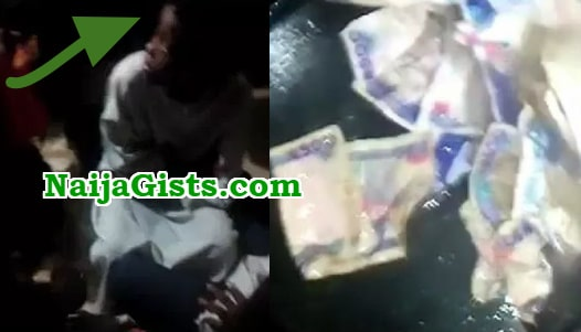 girl vomits money warri
