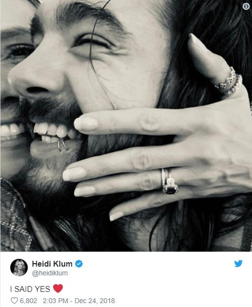 heidi klum engaged tom kaulitz