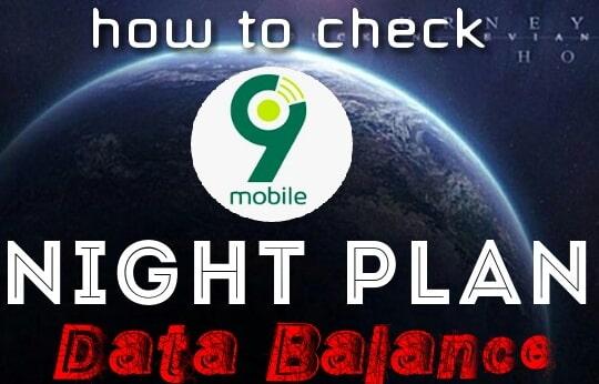 how to check data balance 9mobile