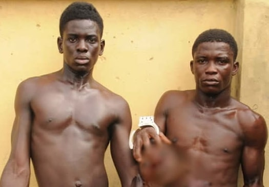 lagos boys behead neighbour raise money naming ceremony