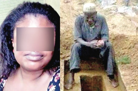 man threatens bury cheating wife alive