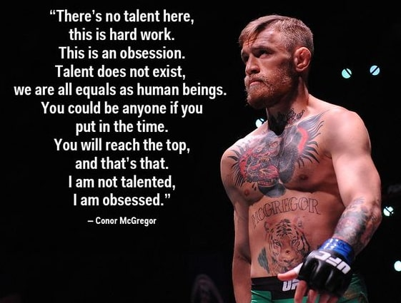 McGregor quotes hard work