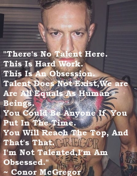 mcgregor quotes talent