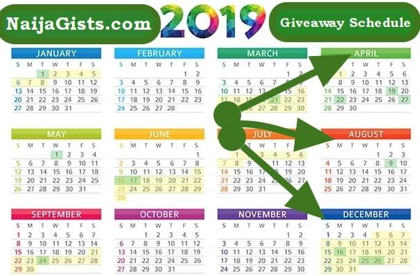 naijagists 2019 giveaway schedule