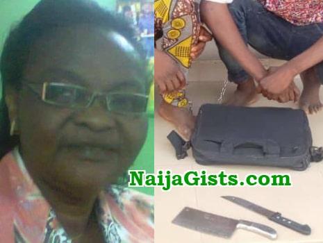 nigerian lecturer arrest robbers