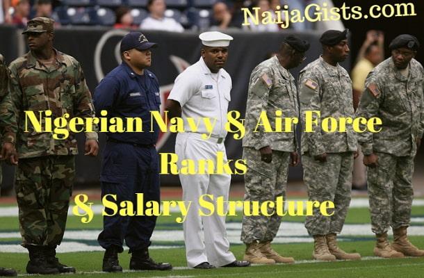 nigerian navy air force ranks salaries
