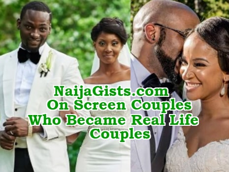 nollywood tinsel on screen couples real life couples
