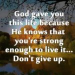 Please Don't Lose Hope, You Are Stronger Than You Think