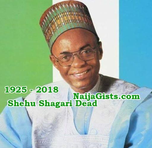 shehu shagari dead