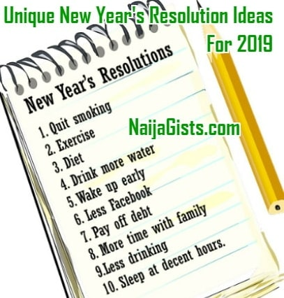 top 10 new years resolutions 2019