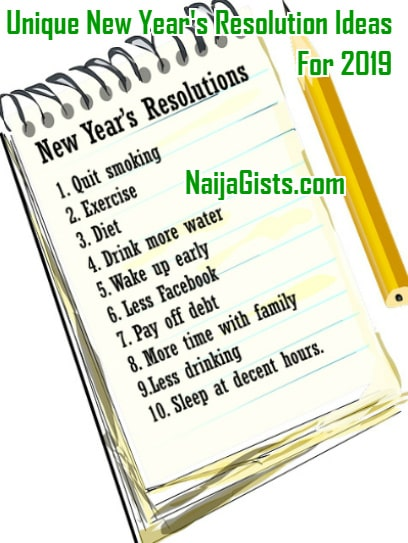 top 10 new year's resolutions 2019