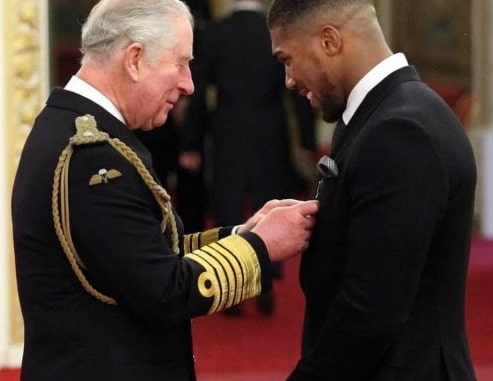 what prince charles told anthony joshua buckingham palace