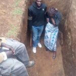 wife enters husband grave kenya