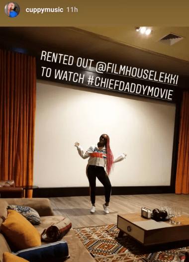 dj cuppy rents cinemas watch movie friends
