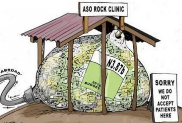 aso rock clinic 9.8 billion 4 years