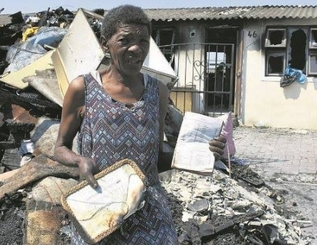bible escapes fire cape town south africa