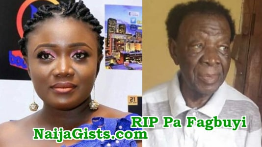 bukky fagbuyi loses dad