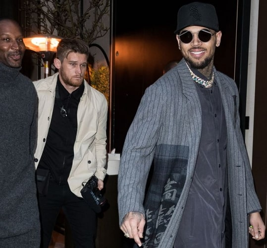 chris brown paris arrest photos