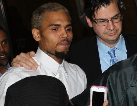 chris brown released paris police