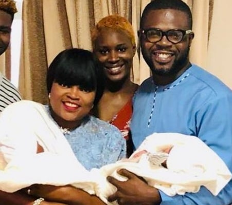 funke akindele twins naming photos
