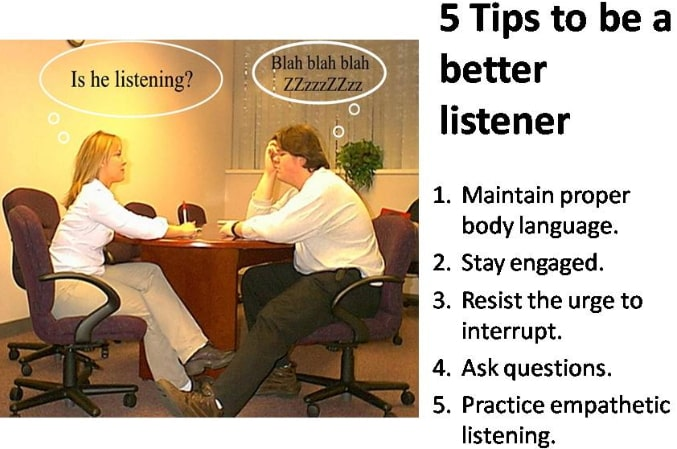 how to be a good listener in the workplace