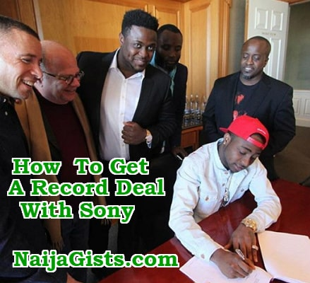 how to get record deal sony music