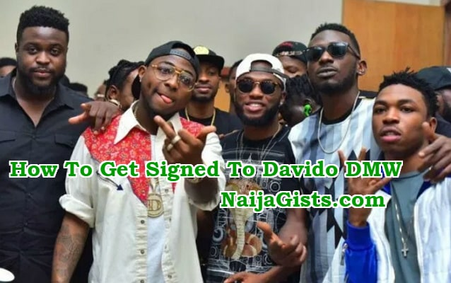 how to get signed to davido dmw record label