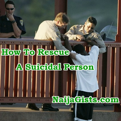 how to save rescue suicidal person