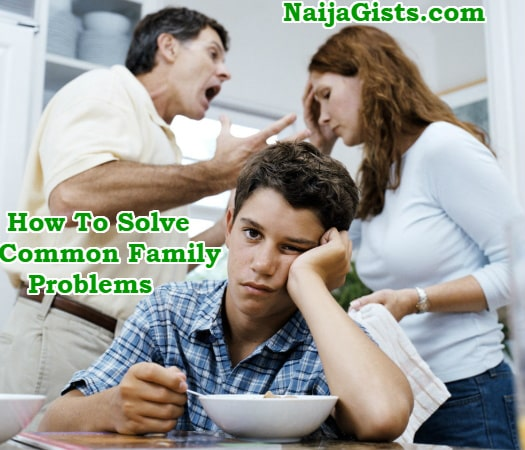 how to solve family problems and conflicts