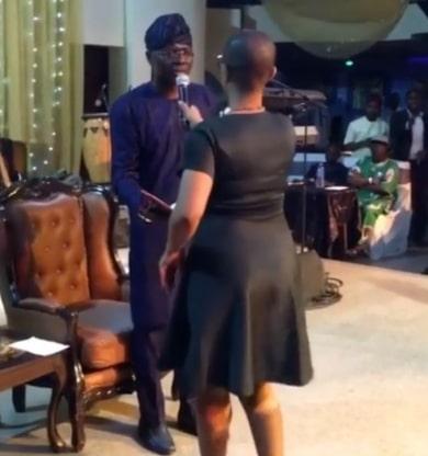 jamaican interrupts jide sanwo olu event