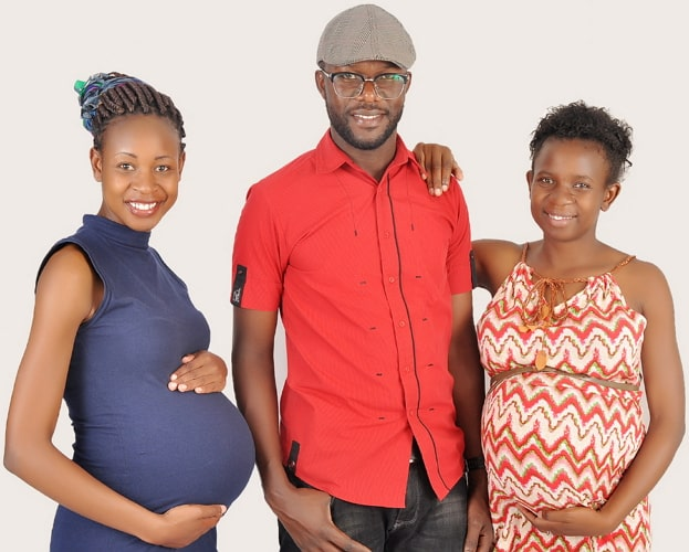 kenyan man pregnant wives photos