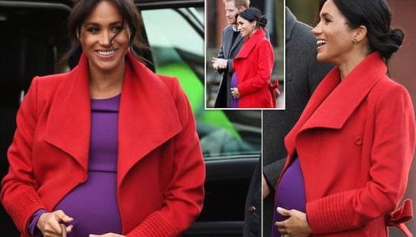 meghan markle 6 months pregnant
