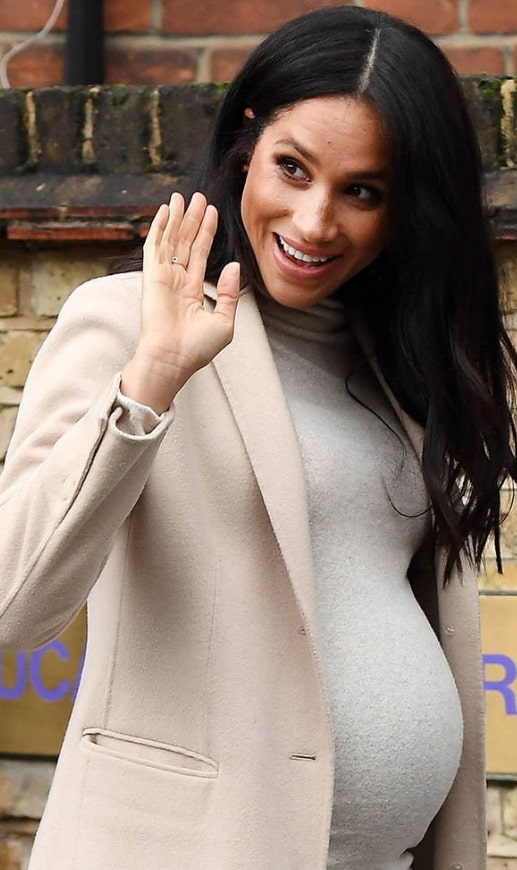 meghan markle baby bump pictures