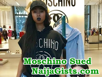 moschino sued black people serenas