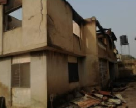 mutiu adepoju house destroyed fire ibadan