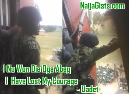nda cadet afraid jumping military training