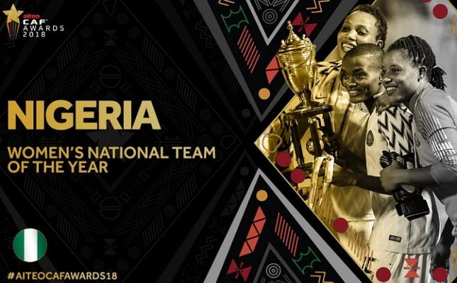 nigeria wins caf women team 2018 award