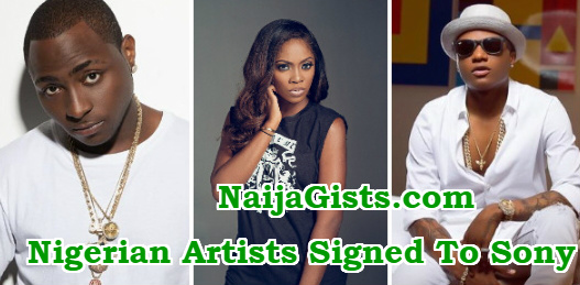 nigerian artists signed sony music