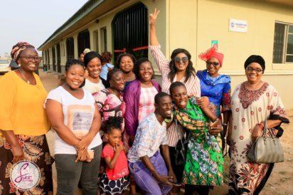 omotola jalade renovates widows home mowe ogun state
