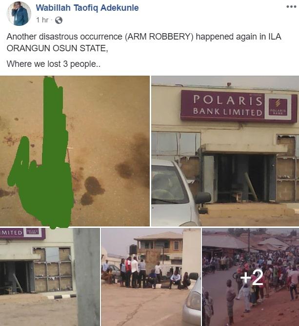bank robbery ila orangun osun state