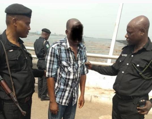 suicidal man rescued lagos