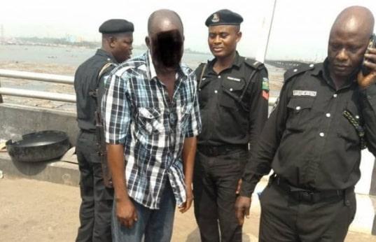 suicidal nigerian man lagos